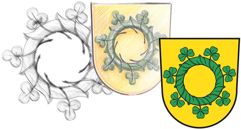 Gemeindewappen von Reesdorf Gestaltung