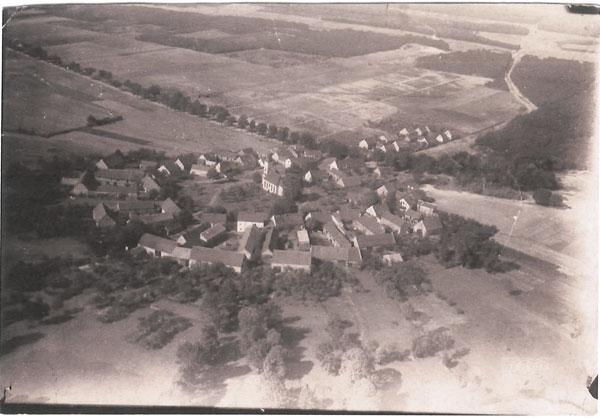 Abb. Reesdorf - ein Runddorf von oben
