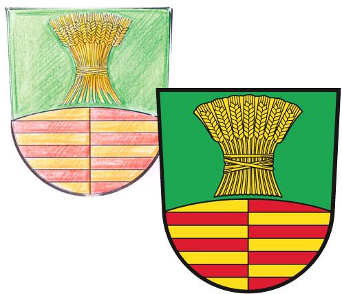 Abb. Ortswappen von Schönefeld Gestaltung