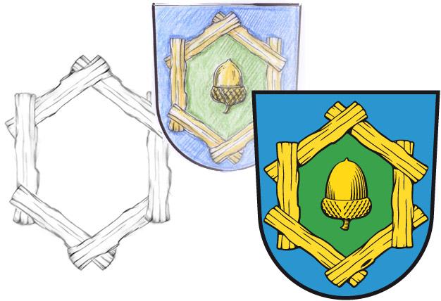 Abb. Gemeindewappen Körzin - Gestaltung