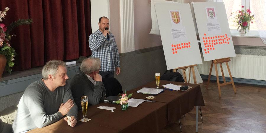 Abb. Abstimmung zum Kommunalwappen Buchholz