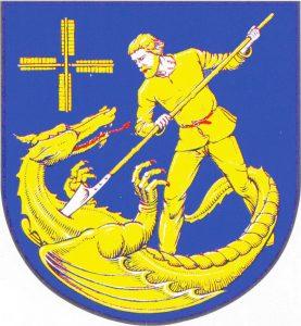Wappen der GemeindeSankt Michaelisdonn, Kreis Dithmarschen von W.H. Lippert