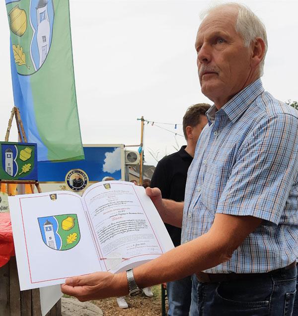 Stiftungsfest Ortswappen Bäsch - der Wappenbrief